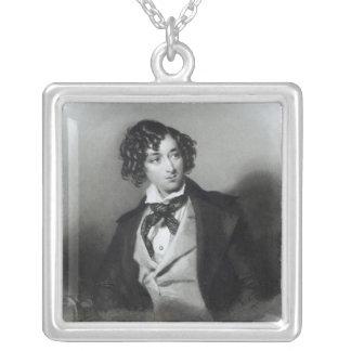Portrait of Benjamin Disraeli Esquire  M.P. Silver Plated Necklace