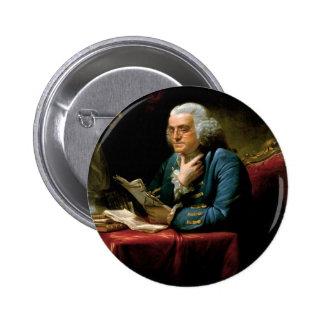 Portrait of Benjamin Franklin Pin