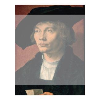 Portrait of Bernard von Reesen by Durer Flyer Design