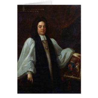 Portrait of Bishop John Robinson  c.1711 Card