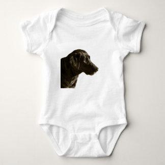 Portrait of Black Lab Labrador Retriever Dog Baby Bodysuit