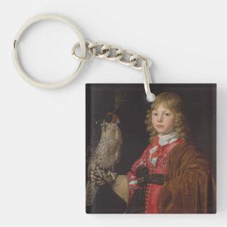 Portrait of Boy with Falcon Acrylic Key Chain