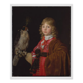Portrait of Boy with Falcon Poster