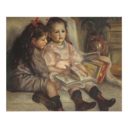 Portrait of Caillebotte Children by Pierre Renoir Poster
