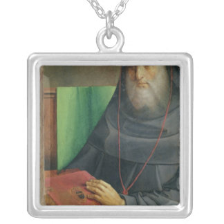 Portrait of Cardinal Bessarion  c.1475 Silver Plated Necklace