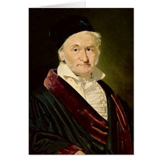Portrait of Carl Friedrich Gauss, 1840 Card