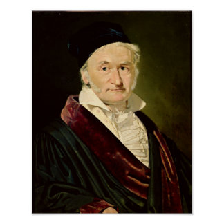 Portrait of Carl Friedrich Gauss, 1840 Poster
