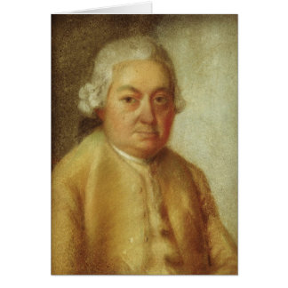 Portrait of Carl Philipp Emanuel Bach, c.1780 Card