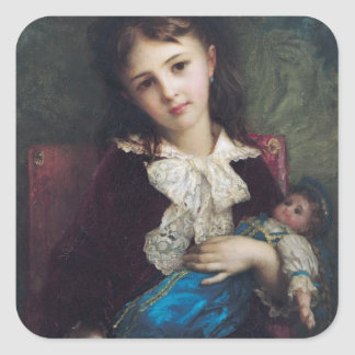 Portrait of Catherine du Bouchage, 1879 Square Sticker