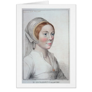 Portrait of Catherine Howard (1520-42) engraved by Card