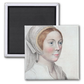 Portrait of Catherine Howard (1520-42) engraved by Magnet