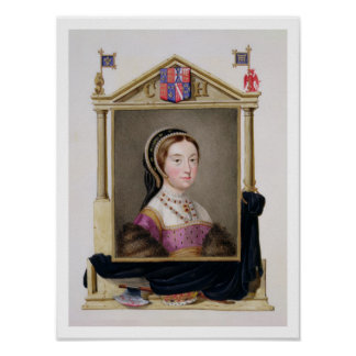 Portrait of Catherine Howard (c.1520-d.1542) 5th Q Poster