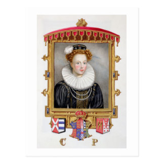 Portrait of Catherine Parr (1512-1548) Sixth Wife Postcard