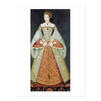 Portrait of Catherine Parr (1512-48), 1545 (colour Postcard