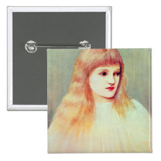 Portrait of Cecily Horner 1895 Pinback Button