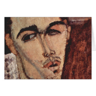 Portrait of Celso Lagar - Amedeo Modigliani Card