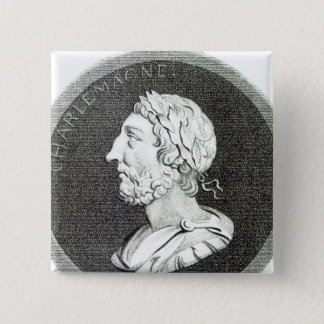 Portrait of Charlemagne 15 Cm Square Badge