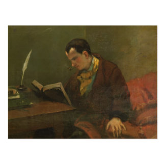 Portrait of Charles Baudelaire  1847 Postcard