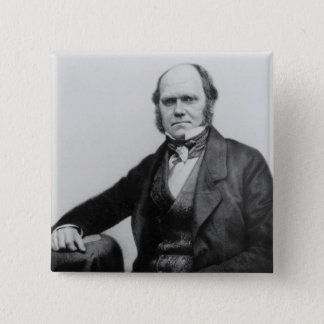 Portrait of Charles Darwin, 1854 15 Cm Square Badge