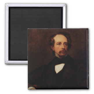 Portrait of Charles Dickens  1855 Square Magnet