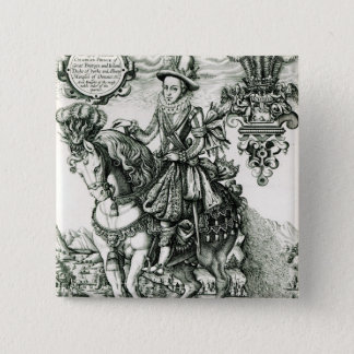 Portrait of Charles I as a Prince 15 Cm Square Badge