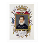 Portrait of Charles IX of France (1550-74) from 'M Postcard