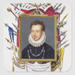 Portrait of Charles IX of France (1550-74) from 'M Square Sticker