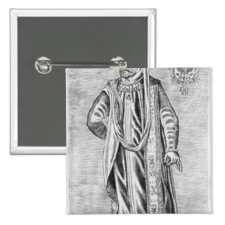 Portrait of Charles V , Holy Roman Emperor 15 Cm Square Badge