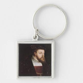 Portrait of Charles V Keychains