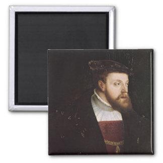 Portrait of Charles V Square Magnet
