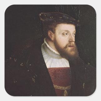 Portrait of Charles V Square Sticker