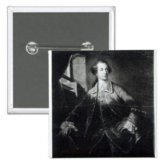 Portrait of Charles Watson-Wentworth 15 Cm Square Badge