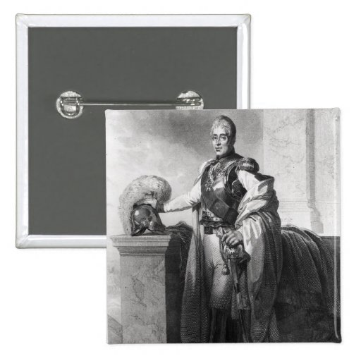 Portrait of Charles X  King of France and Pinback Buttons