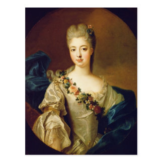 Portrait of Charlotte Aglae of Orleans, 1720s Postcard