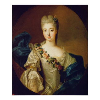 Portrait of Charlotte Aglae of Orleans, 1720s Poster