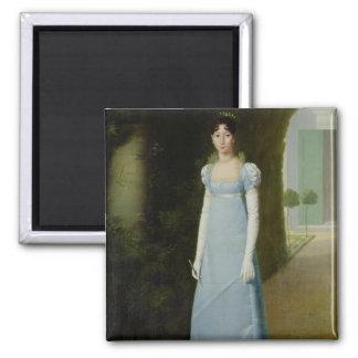 Portrait of Charlotte Bonaparte  1808 Square Magnet