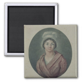 Portrait of Charlotte Corday  after 1793 Square Magnet