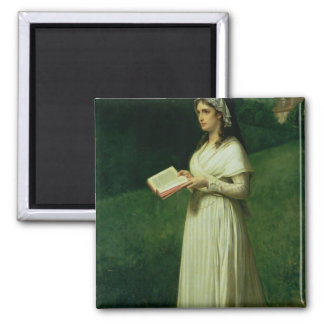 Portrait of Charlotte Corday Square Magnet