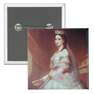 Portrait of Charlotte of Saxe-Cobourg-Gotha 15 Cm Square Badge