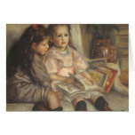 Portrait of Children, Renoir Vintage Impressionism