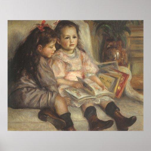 Portrait of Children, Renoir Vintage Impressionism Poster
