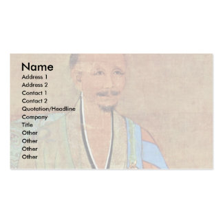 Portrait Of Chinese Chan Buddhist Monk Wuzhun Business Cards