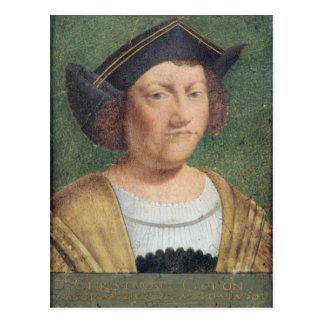 Portrait of Christopher Columbus Postcard