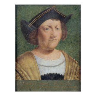 Portrait of Christopher Columbus Poster