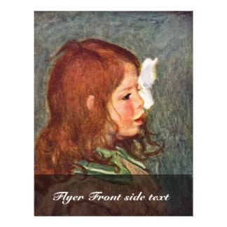 Portrait Of Coco By Pierre-Auguste Renoir 21.5 Cm X 28 Cm Flyer