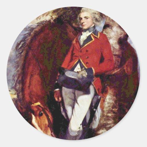Portrait Of Colonel George Kh Coussmaker Round Sticker