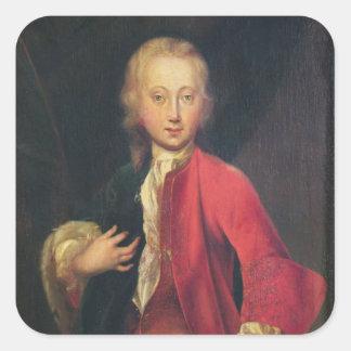 Portrait of Comte Maurice de Saxe Square Sticker