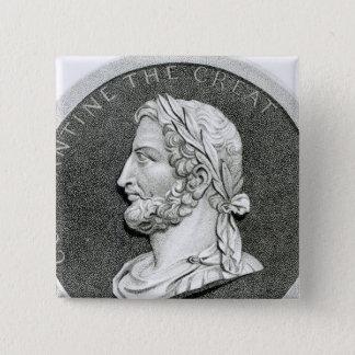 Portrait of Constantine the Great 15 Cm Square Badge