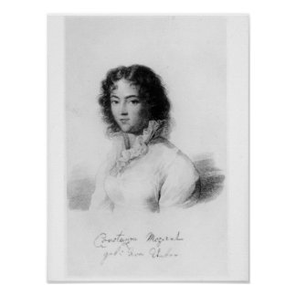 Portrait of Constanze Mozart  1828 Poster