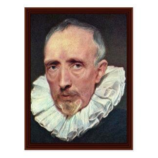 Portrait Of Cornelius Van Der Geest Postcard